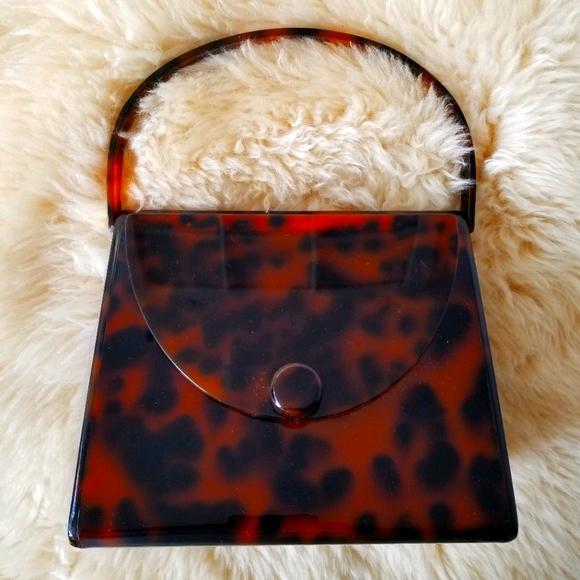 Aldo Hard Case Leopard Print Purse